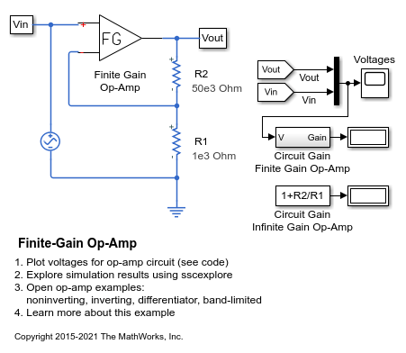 Finite-Gain Op-Amp - MATLAB & Simulink