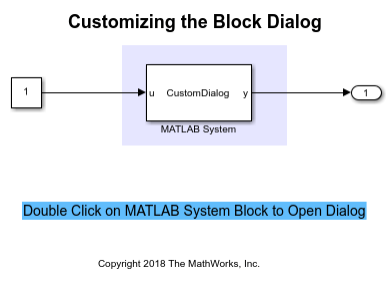 Customize MATLAB System Block Dialog - MATLAB & Simulink