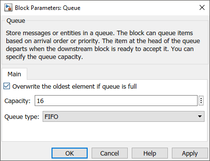 Use a Queue Block to Manage Messages - MATLAB & Simulink
