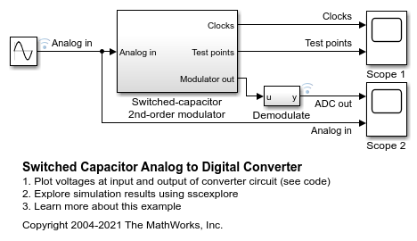 Switched Capacitor Analog to Digital Converter - MATLAB