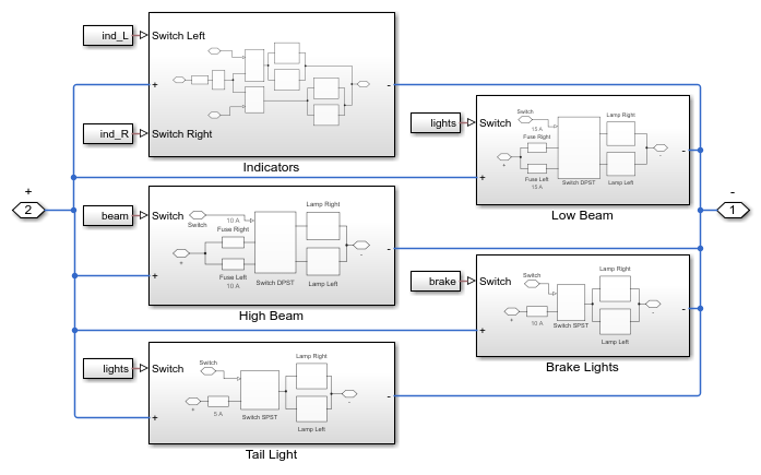 Automotive Electrical System - MATLAB & Simulink on basic auto drive train diagram, auto electrical wiring diagram, automotive starter diagram, basic automotive electrical systems, basic ac electrical power diagrams, basic auto wiring diagram, auto air conditioning diagram, basic automotive electrical layout, basic car electrical system, electric transport system diagram, basic electrical schematic diagrams,
