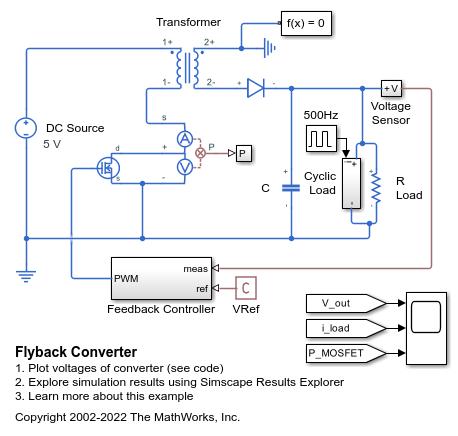 Flyback Converter - MATLAB & Simulink