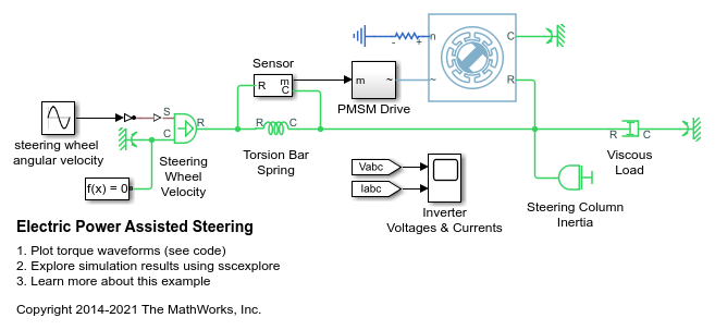 Electric Power Assisted Steering Matlab Simulink