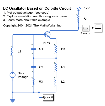 LC Oscillator Based on Colpitts Circuit - MATLAB & Simulink