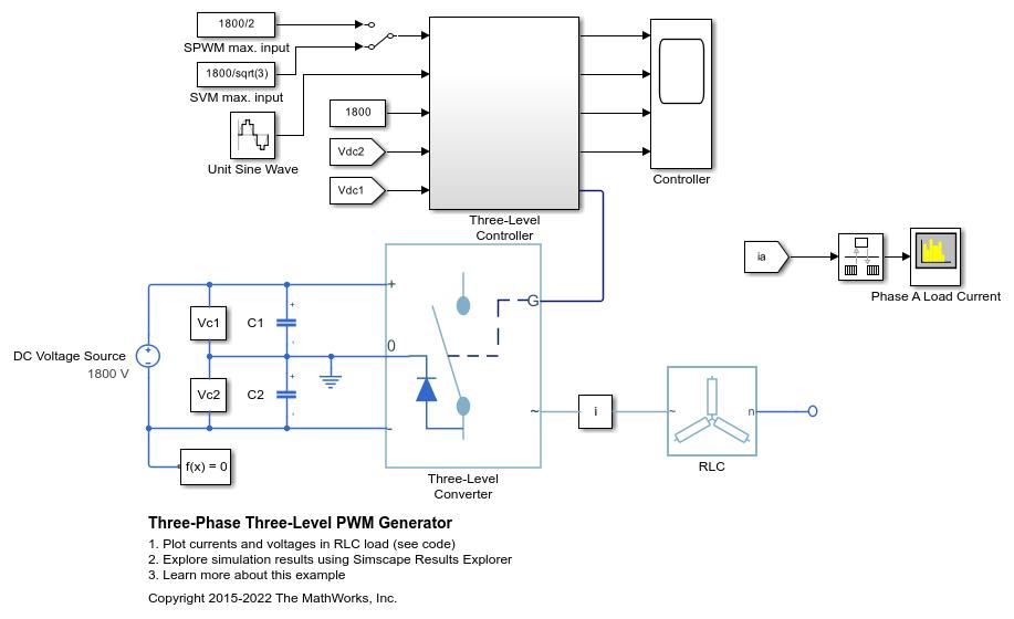 Generate three-phase, three-level pulse width modulated