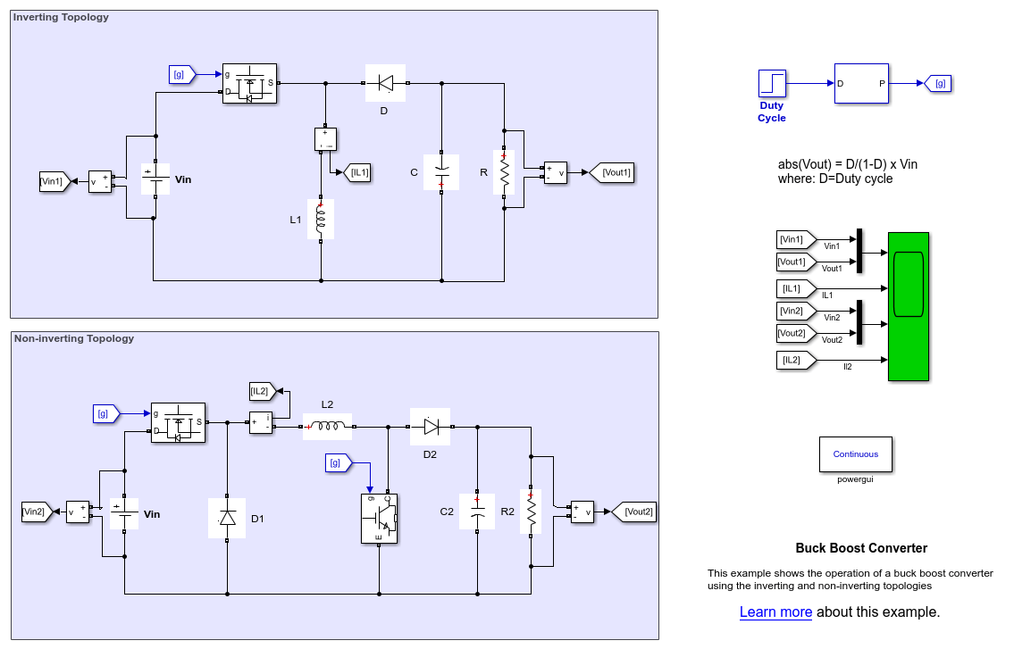 Power Electronics Matlab Simulink Static Phase Converter Wiring Diagram Featured Examples Boost