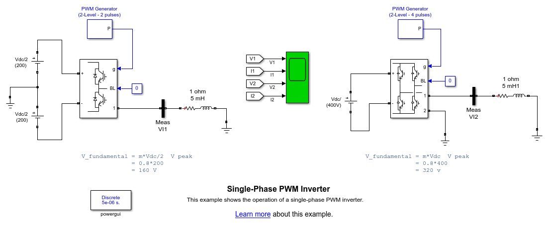 Single Phase Pwm Inverter Matlab Amp Simulink