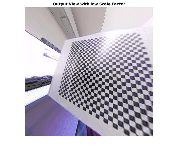 Correct fisheye image for lens distortion - MATLAB