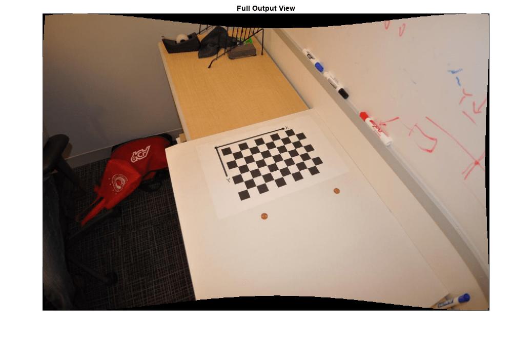 Correct image for lens distortion - MATLAB undistortImage