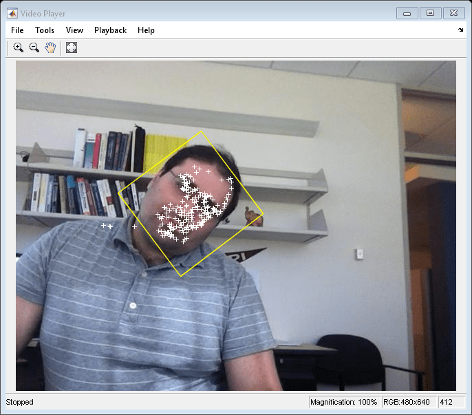 Face detection and tracking using the klt algorithm matlab simulink the annotated video frame using the video player object stepvideoplayer videoframe end clean up releasevideofilereader releasevideoplayer fandeluxe Image collections