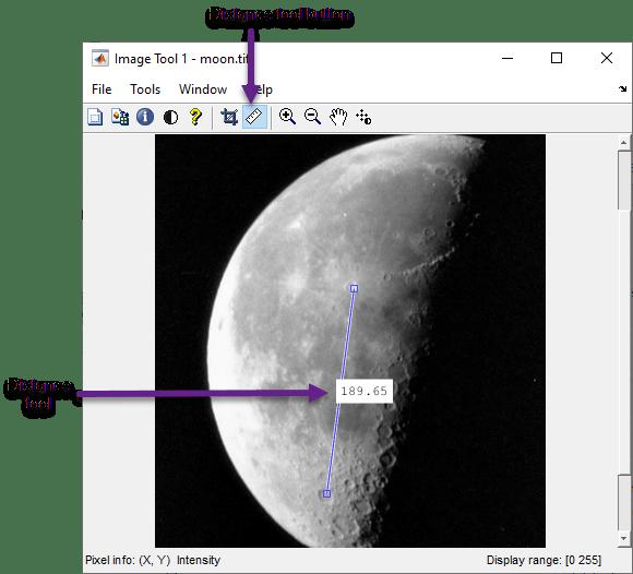 Measure Distance Between Pixels in Image Viewer App - MATLAB