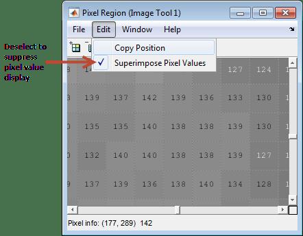 Get Pixel Information in Image Viewer App - MATLAB & Simulink