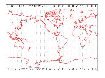 Time Zone Based On Longitude Matlab Timezone