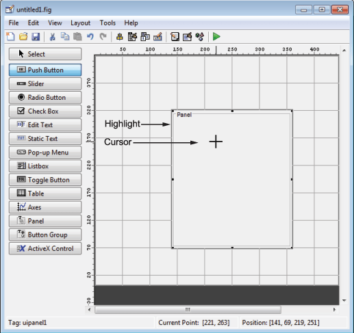 Add Components to the GUIDE Layout Area - MATLAB & Simulink