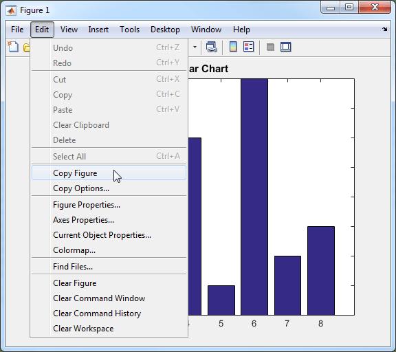 Copy Figure To Clipboard From Edit Menu Matlab Simulink