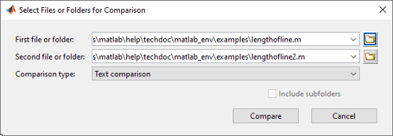Compare Files and Folders and Merge Files - MATLAB & Simulink