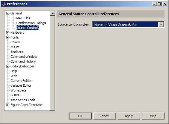 Set Up MSSCCI Source Control - MATLAB & Simulink