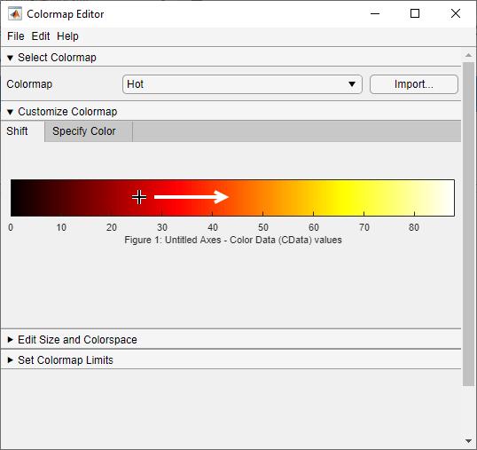 Open colormap editor - MATLAB
