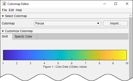 Open Colormap Editor Matlab