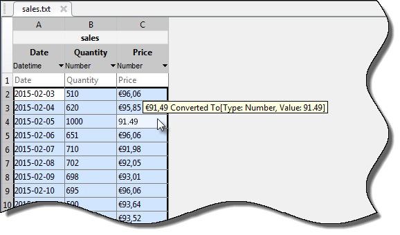 Import data from file - MATLAB