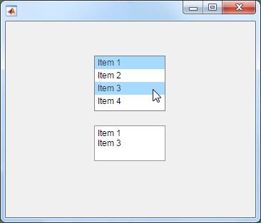 Create list box component - MATLAB uilistbox