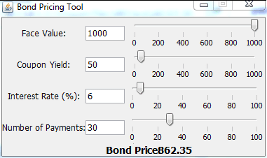 Bond pricing tool for java client matlab simulink when you run the calculator application you should see the following output fandeluxe Choice Image