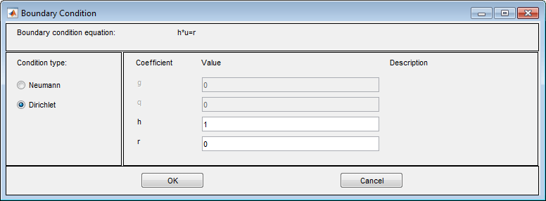 Specify Boundary Conditions in the PDE Modeler App - MATLAB & Simulink