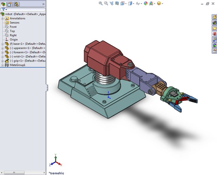 Export A Solidworks Robot Assembly Model Matlab Amp Simulink