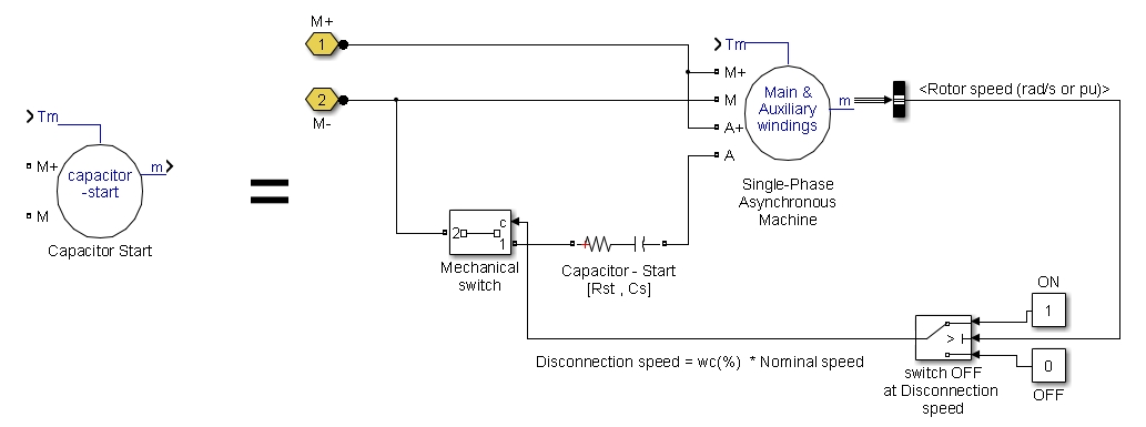 capacitorstart model dynamics of single phase asynchronous machine with squirrel single phase asynchronous motor wiring diagram at n-0.co
