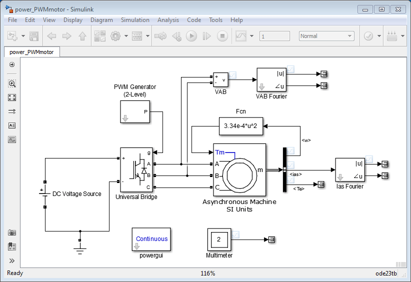 simulate variable speed motor control