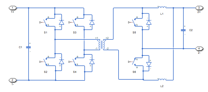 Controller-driven bidirectional DC-DC step-up and step-down