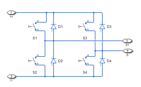 The figures show the equivalent circuit and the operation for the block.