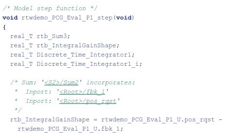 从控制算法生成用于嵌入式系统的 C 代码