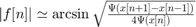 $|f[n]| \simeq \arcsin\sqrt{\frac{\Psi(x[n+1] - x[n-1])}{4\Psi(x[n])}}$