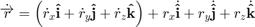 $$ \dot{\overrightarrow{r}}= \left( \dot{r}_x \mathbf{\hat{i}}+ \dot{r}_y \mathbf{\hat{j}}+ \dot{r}_z \mathbf{\hat{k}} \right) + r_x \dot{ \mathbf{\hat{i}} } + r_y \dot{ \mathbf{\hat{j}} } + r_z \dot{ \mathbf{\hat{k}} } $$