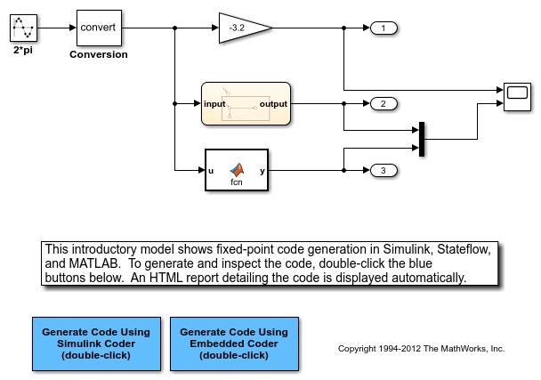 Optimizegeneratedcodeusingfixedpointdatawithsimulinkexample_01