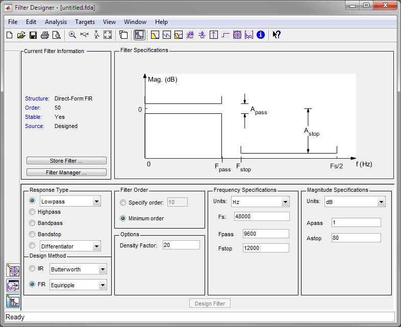 Getting Started with Filter Designer - MATLAB & Simulink