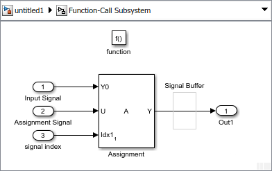 Assign values to specified elements of signal - Simulink