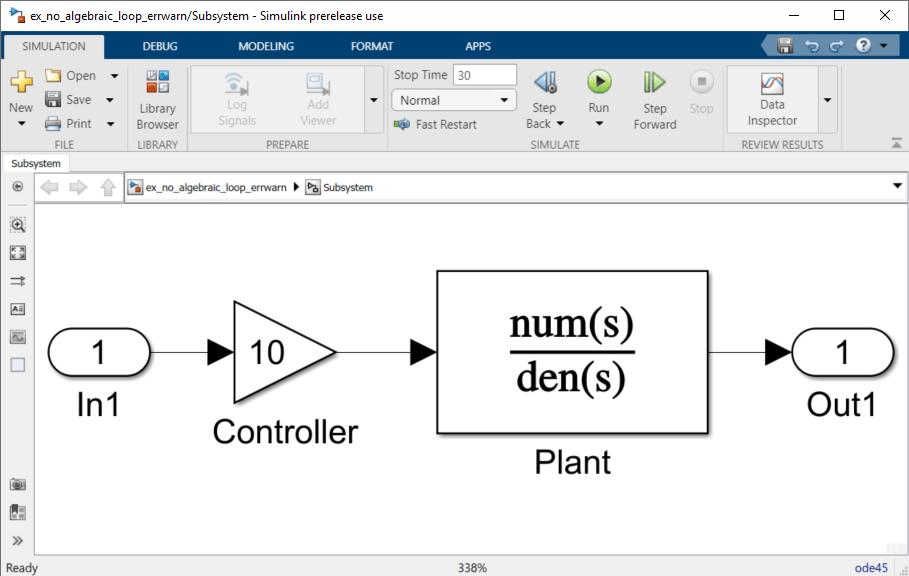 algebraic loops matlab simulink rh mathworks com