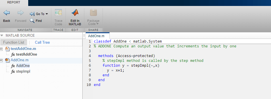 Generate Code for MATLAB Handle Classes and System Objects