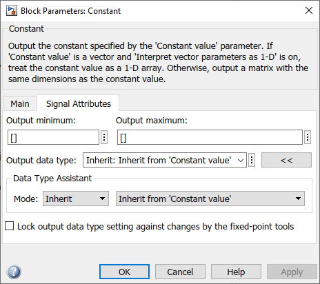 Specify Data Types Using Data Type Assistant - MATLAB & Simulink