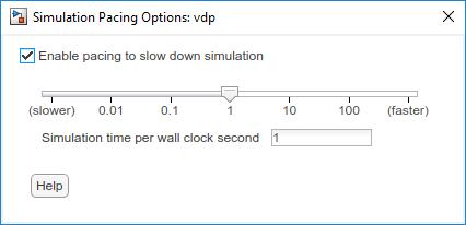simulation pacing matlab simulink