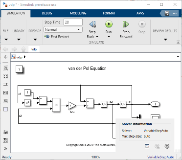 Use Auto Solver To Select A Solver Matlab Simulink