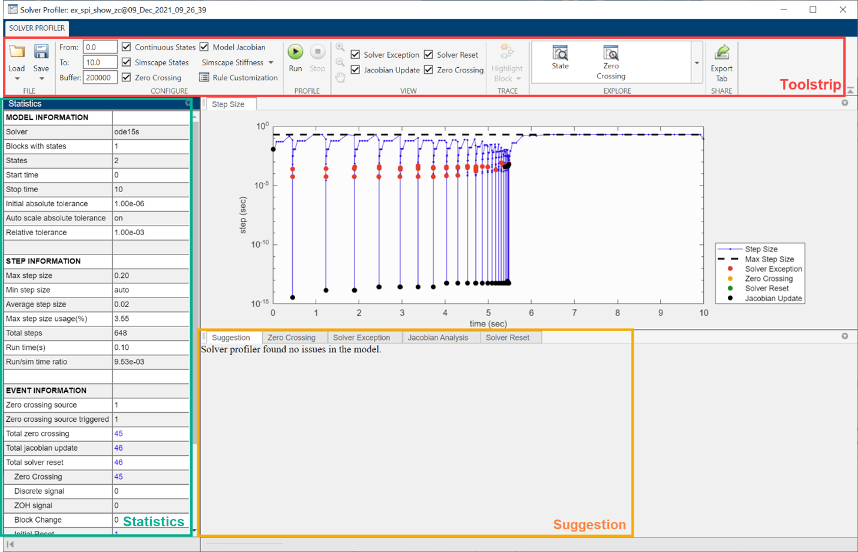 solver profiler interface matlab simulink solver profiler interface