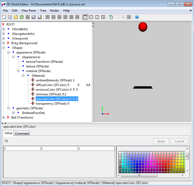 Open the 3D World Editor - MATLAB & Simulink