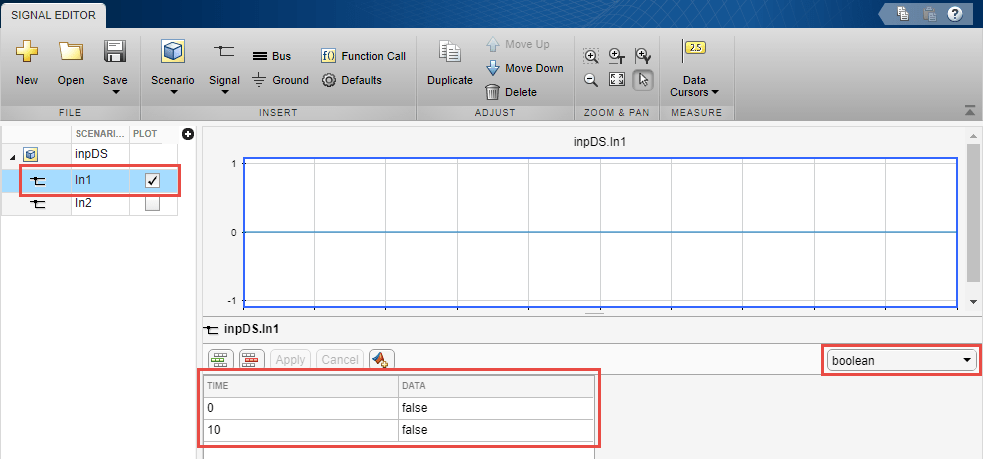 Test Case Input Data Files - MATLAB & Simulink