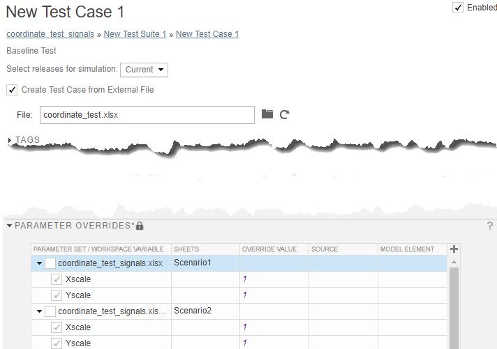 Run Tests Using External Data - MATLAB & Simulink