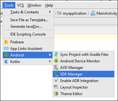 Install Android SDK Platform Packages and Tools - MATLAB