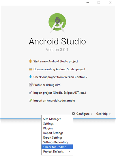 Update to the Latest Version of Android Studio - MATLAB