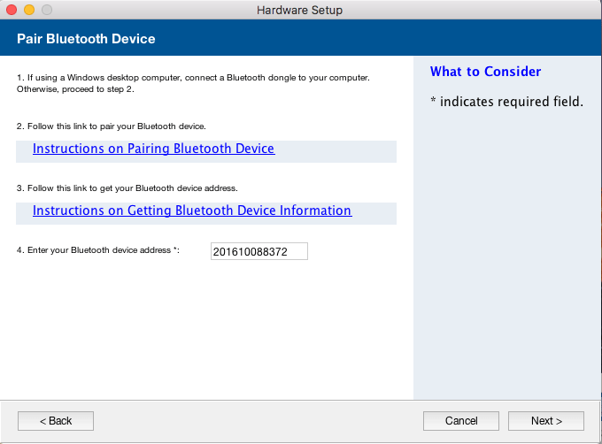 Pair a Bluetooth Device and Retrieve the Bluetooth Device Address